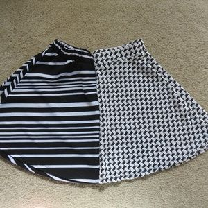 Set of 2 Separate Rue21 Small Black&White Skirts